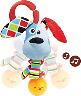 Yookidoo Musical Activity Rattle- Motion Activated Dog Rattle with Music- Activity Toy for Babies 0 Months and Older