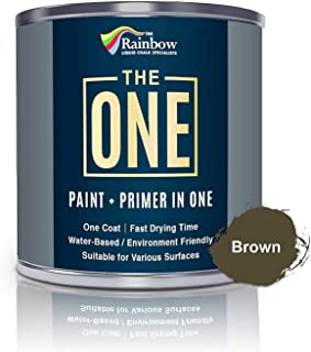 The ONE Paint – Brown – 250ml – Matte Finish, Multi Surface for Wood,..