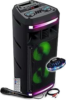 Enceinte sur Batterie SONO DJ KARAOKE - 300W - USB SD Bluetooth - / PC - LED RVB + Jeu de lumière OVNI