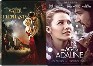 Secret Chance Encounter Dazzling Age of Adeline + Water for Elephants Romance Movies DVD Set Robert Pattison Blake Lively Double Feature Love Twice as Much