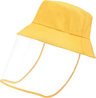 Kid's Hat with Shield Bucket Sun Hat for Kid with Transparent Bezel for Dustproof Windproof Sun, Travel (for 3-10 Years Old)