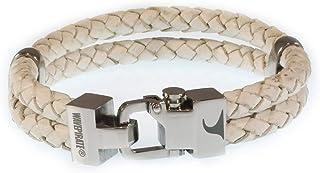 WAVEPIRATE Echt Leder-Armband Turn F Weiss Herrenarmband Männer
