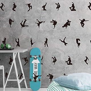 Fotomurale 3D 3 tiras Papel pintado tejido no tejido Fotomural Moderna para Dormitorio Sala de Ni/ños Pasillo TV Decoraci/ón de Fondo Graffiti europeo y americano 150x105 cm