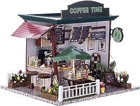 Miniatyr Dollhouse Kit Dekorationer med ljus och möbler DIY House Craft Kits House Modell Bästa födelsedagar Presenter för...