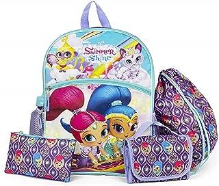 Shimmer & Shine Backpack, Lunch Tote, Cinch Bag, Gadget Case & Water Bottle Set