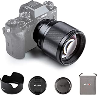VILTROX 単焦点レンズ 中望遠レンズ XF-85mm F1.8 STM 二代目 瞳AF 富士フイルムXマウント用交換レンズ 手ぶれ補正対応 ポートレート X-T3 X-T2 X-T30 X-T20 X-T10 X-T100 X-PRO2 ...