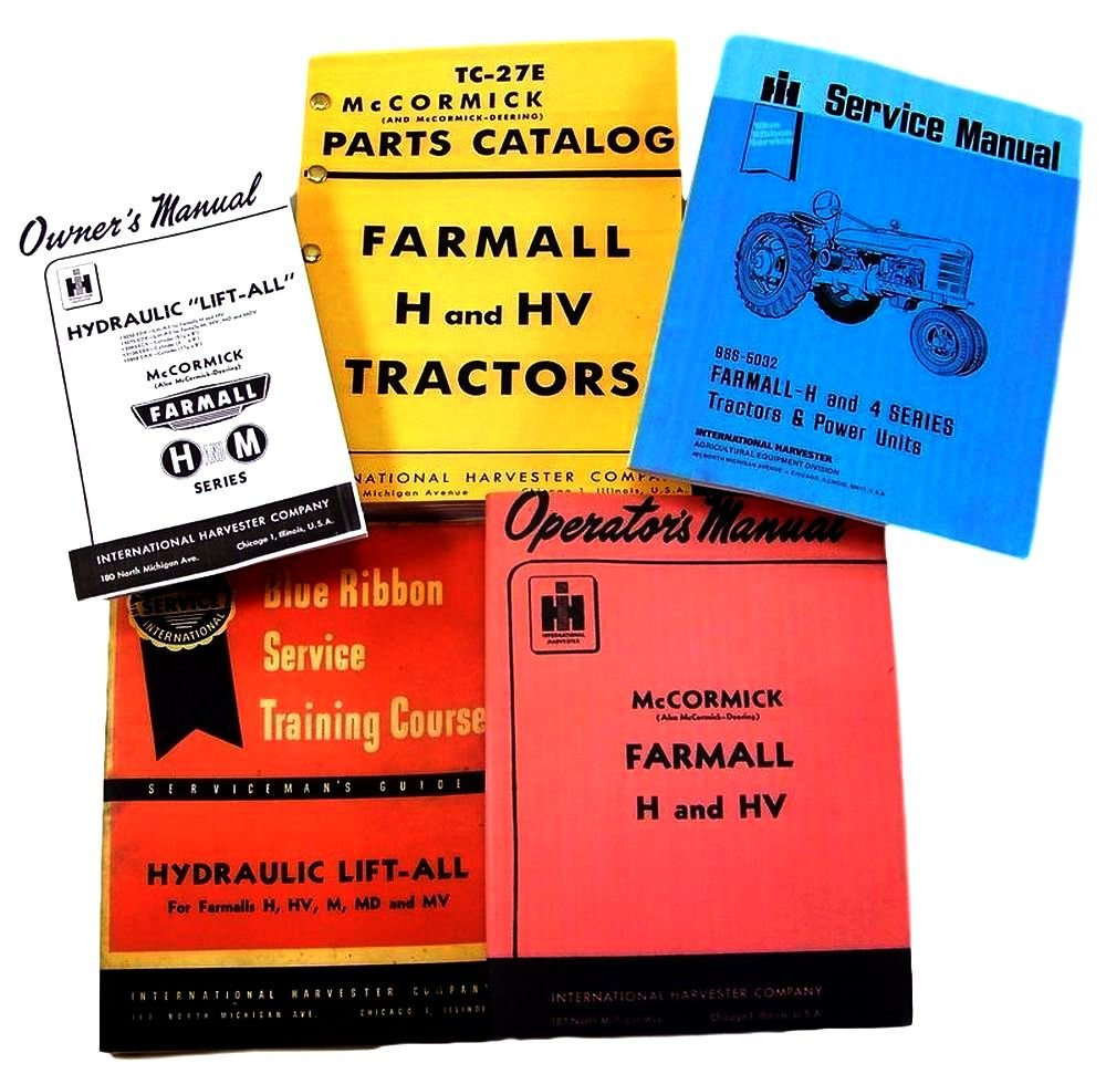 farmall h tractor parts amazon com Farmall 706 Wiring-Diagram farmall h hv tractor service, parts and operators manuals for chassis, engine, hydraulics