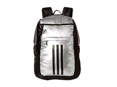 adidas League 3 Stripe Backpack (Silver/Black) Bags