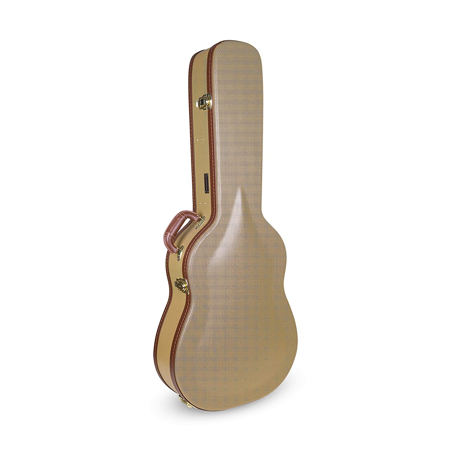 Crossrock Dreadnought Guitar Case,Multi-ply Wood Case in Vintage Tweed (Dreadnought)