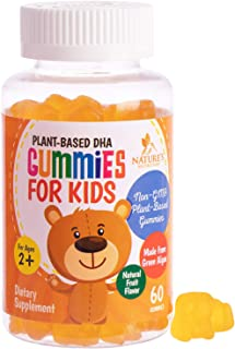 Dha Gummies for Kids - Children's Omega 3 Dha Gummy Fish Oil Supplement for Brain Health and Immune Support - Best Vegan P...