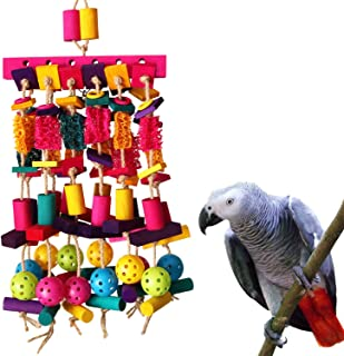 Unqiue Parrot Blocks Toy Cages African Grey Cockatoo Parakeet Chew Fun Toy RS