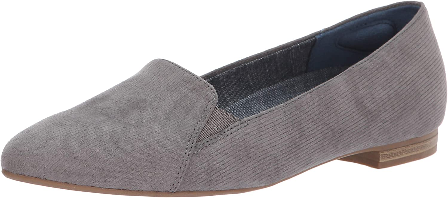Dr. Scholl's shoes Women's Anyways Loafer, Grey Linear Microfiber, 6.5 M US