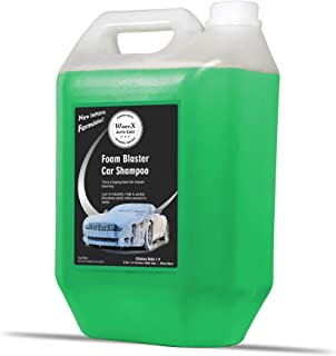 Wavex® Foam Wash Car Shampoo Concentrate 5Ltr pH Neutral, Extreme Suds Snow White Foam, Highly Effective on Dust and Grime