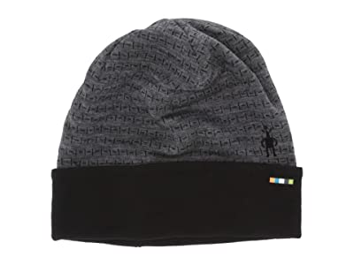 Smartwool NTS Mid 250 Reversible Pattern Cuffed Beanie (Medium Gray Tick Stitch) Beanies