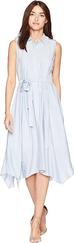 Sleeveless Striped Handkercief Dress