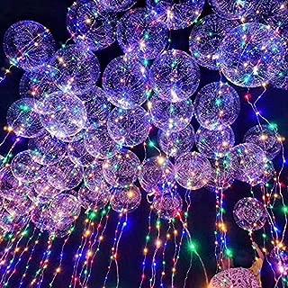 oamore LED Bobo Balloon Luz de Cadena Reutilizable Globo Creativo para la Boda de cumpleaños Fiesta de Navidad Decorativo (30pcs)