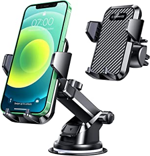VANMASS Universal Car Phone Mount,【Patent & Safety Certs】Upgraded Handsfree Stand, Dash Windshield Air Vent Phone Holder f...
