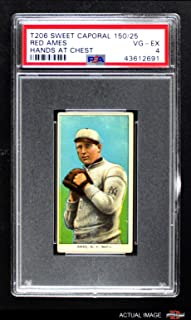 1909 T206 CH Red Ames New York Giants (Baseball Card) (Hands at Chest) PSA 4 - VG/EX Giants