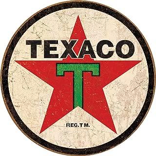 Desperate Enterprises Texaco '36 Round Tin Sign, 11.75