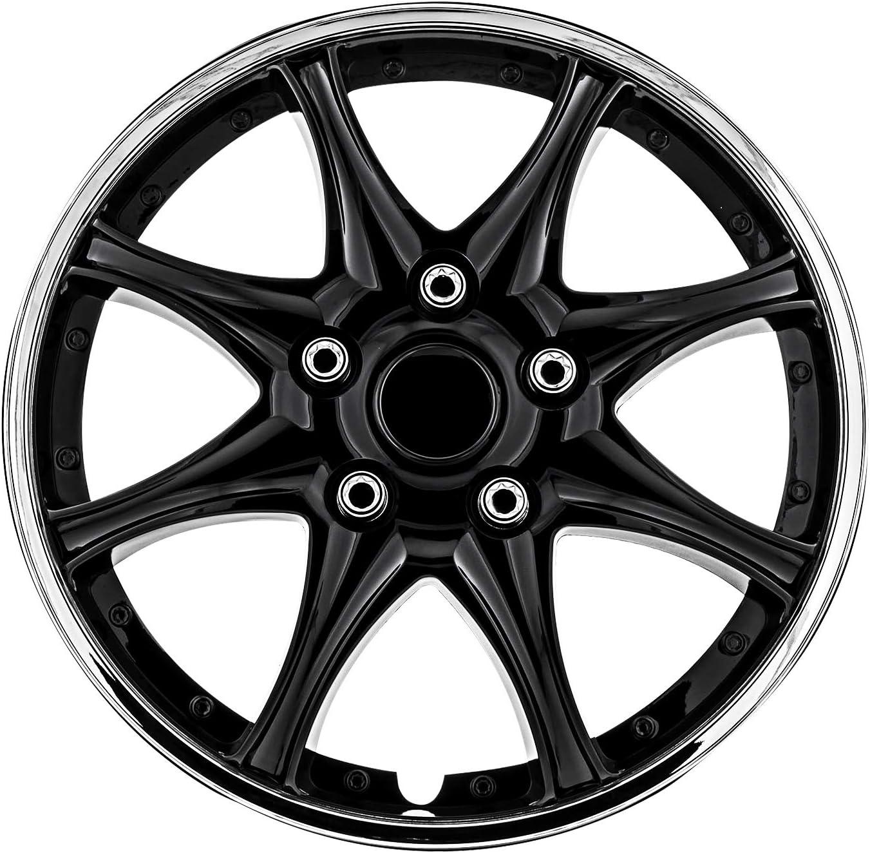 Popular popular Pilot Sales WH522-16C-B Universal Fit Black and Chrome 16 Wheel C Inch