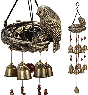YLYYCC? New Birds and nest Wind Chime 12pieces Bells Wind Chime Bronze Color