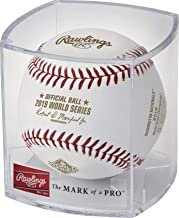 2019 World Series Champions Washington Nationals Baseball in Display Case Cube Cubed