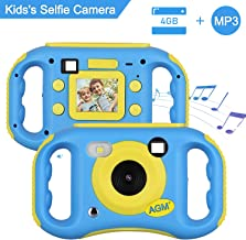 """AGM Cámara para niños, Cámara de Video para Niños con Reproductor de MP3, 1.77"""" HD Color Pantalla Digital Cámara Memoria incorporada de 4GB para Chicas y Chicos, Regalos"""