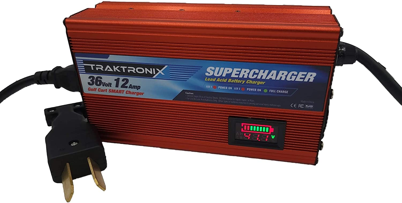 Traktronix 12 AMP 36 Volt Supercharger Ranking TOP11 EZGO Rare EZ-GO Golf Cart TXT