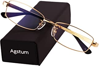 Agstum Pure Titanium Full Rim Glasses Frame Optical...