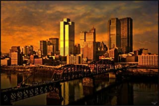 Pittsburgh at Sundown by Chris Lord Photo Art Print Cool Huge Large Giant Poster Art 36x54