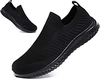 JIAFO Men's Casual Running Shoes Walking Sock Slip on Lightweight Breathable Sneakers Athletic Fashion Sports Shoes