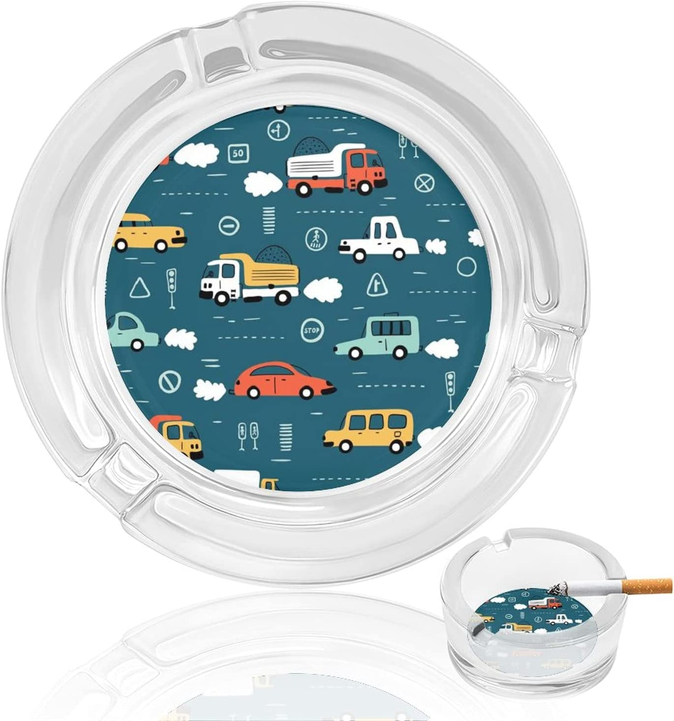 Doodle Toy Cars And Philadelphia Mall Traffic Ashtray Signs Glass ...