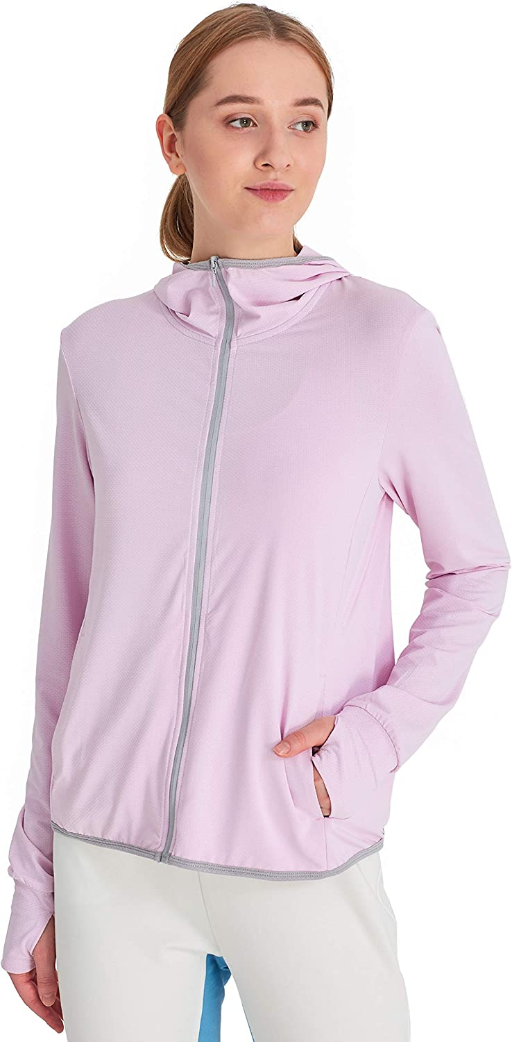 Hodgsonii All items free shipping Women's UPF 40+ Sun Hooded Jacket Long Max 76% OFF Slee Protection