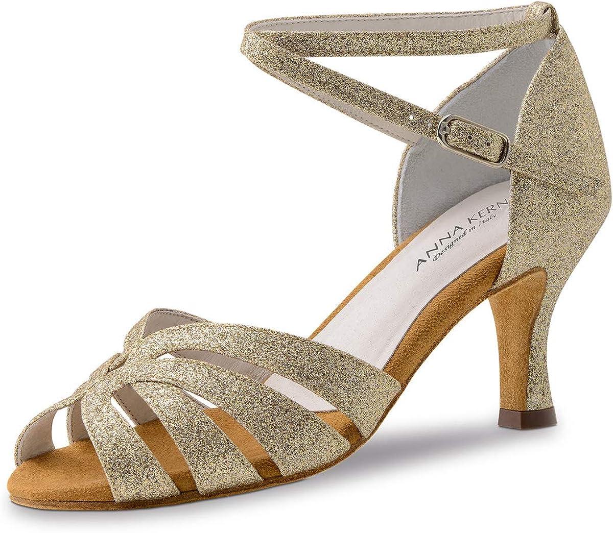 Anna Kern Women´s Dance Shoes 750-60 - Brocade Gold - 6 cm Flare