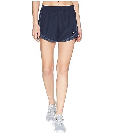 Nike Dry Tempo Short (Obsidian/Obsidian/Thunder Blue/Wolf Grey) Women