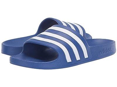 adidas Adilette Aqua (Team Royal Blue/Footwear White/Team Royal Blue) Women