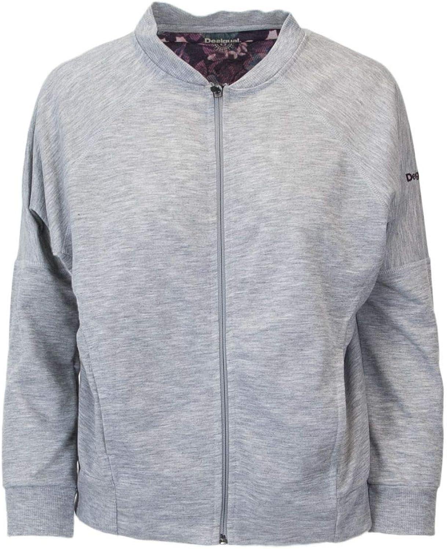 Desigual Women's 18WOSK08GREY Grey Polyester Sweatshirt