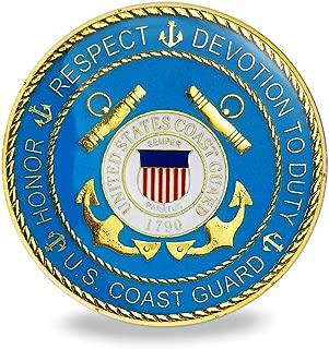 United States Coast Guard Military Metal Auto Decal Car Emblem