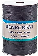 BENECREAT 300m/328 Yards 6.5mm Breedte Raffia Garen Raffia Papier Craft Lint Verpakking Twine voor Festival DIY Decoratie ...