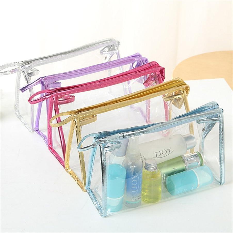 ビジュアル舌克服するHonel 透明 ビニール バッグ スクエア 化粧 ポーチ 小物収納 透明洗面具トラベル防水収納ポーチ バッグ 収納ケース