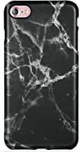 LUMARKE iPhone 7 Case,iPhone 8 Case,Cute Black Marble for Girls Women Slim Fit Glossy TPU Clear Bumper Flexible Soft Rubber Silicone Best Protective Thin Phone Case Cover for iPhone 7/iPhone 8