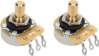 PAIR (2X) CTS 450G Series 250K Short SOLID Shaft Audio Taper Potentiometers / Pots - 10% Tolerance