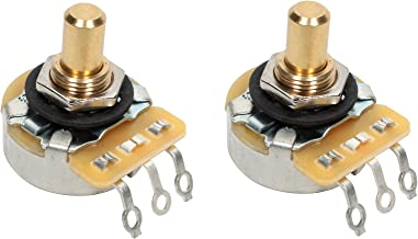 PAIR (2X) CTS 450G Series 250K Short SOLID Shaft Audio Taper Potentiometers / Pots - 10% Tolerance