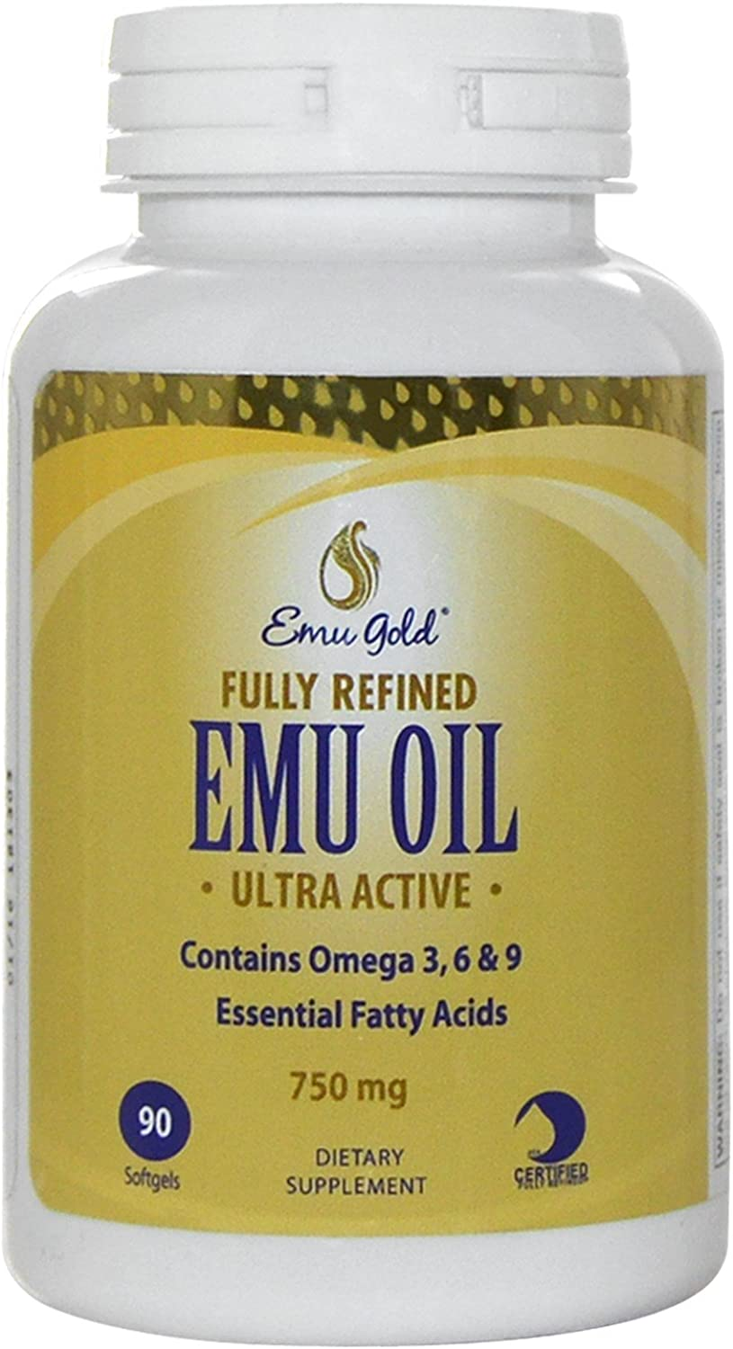 Popular standard Emu Gold Fully Refined 90 Dallas Mall Count Oil Softgels
