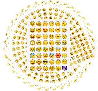 100 Sheet Emoji Stickers Smile Emoticons Stickers Most Popular Emoji Party Favors for Kids Total 4800 Emoji Tattoos