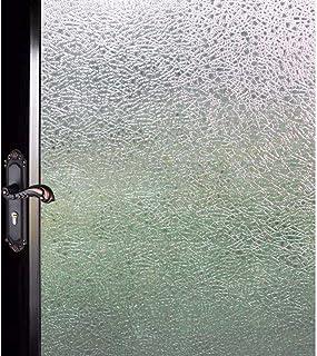 DUOFIRE 窓用フィルム 目隠しシート【水で貼る 貼り直し可能】ガラスフィルム 遮光・遮熱・断熱シート 装飾フィルム 紫外線・UVカット (DF14001, 0.43M X 2M)