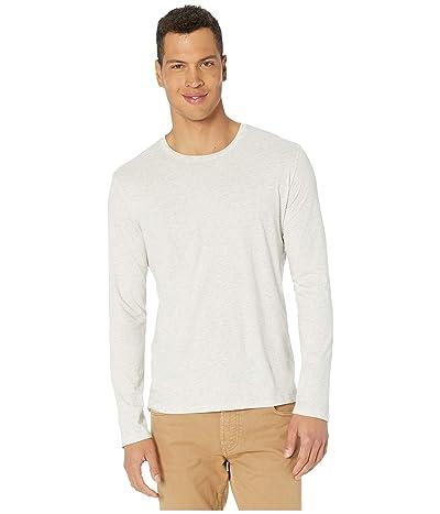 Vince Long Sleeve Crew T-Shirt (Heathered White) Men