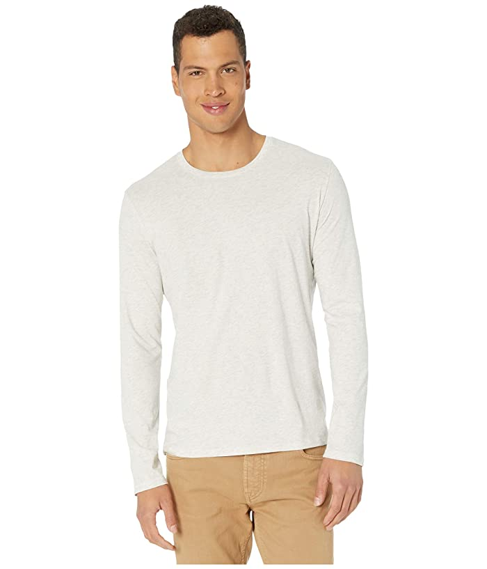 Vince  Long Sleeve Crew T-Shirt (Heathered White) Mens Clothing