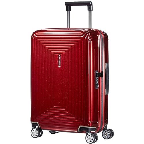20cac3594 Samsonite Neopulse Suitcase 4 Wheel Spinner 55cm Cabin Metallic Red