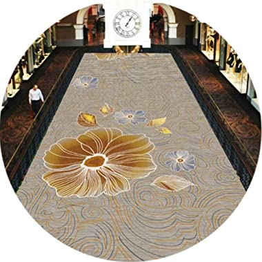 WX&QIANG Non Slip Rug Runner for Hallway Corridor Long Carpet Area Rugs Customizable Cuttable Washable Anti-Fading Foot P